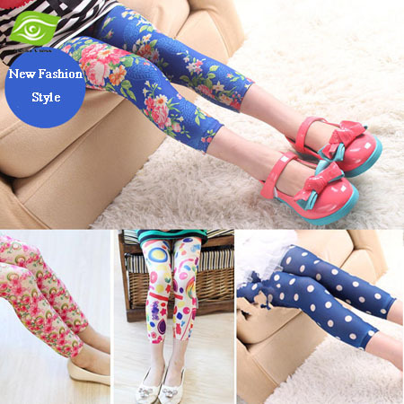 Fashion Spring Summer Print Girls Leggings Classic Pencil Pants For Children Clothing 6-10 Years 1 Piece<br><br>Aliexpress