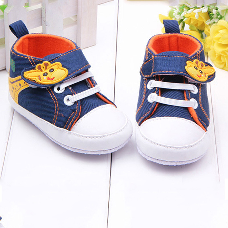 Baby Kids Boys Giraffe Canvas Anti-slip Infant Soft Sole Baby First Walker Toddler Shoes<br><br>Aliexpress