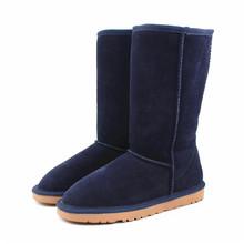 Sexemara invierno 5815 australia botas altas de piel de vaca cuero genuino botas de nieve bottes de neige zapatos calientes para las mujeres femme(China (Mainland))