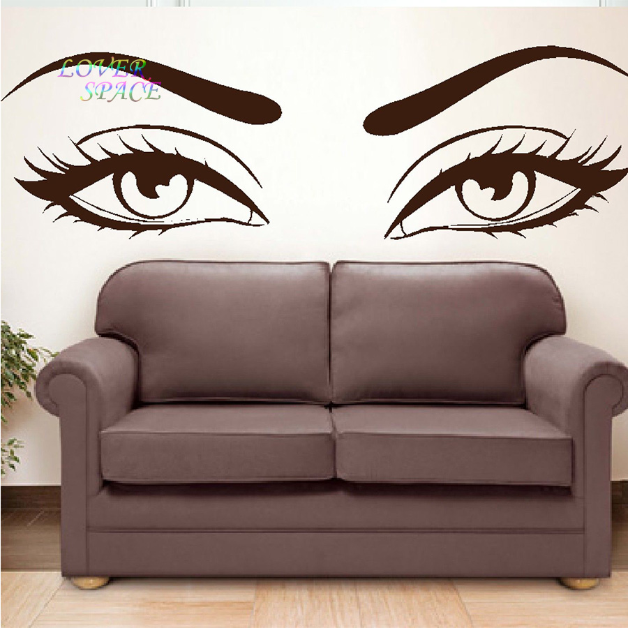 Buy sexy eyes wall stickers wow modern - Decoration salon photo ...