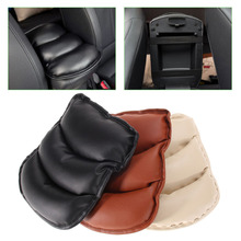 Promotion! Car Auto Armrests Cover Vehicle Center Console Arm Rest Seat Box Pad Protective Case Soft PU Mats Cushion Universal(China (Mainland))