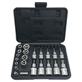 30PCS 1 4 3 8 1 2 DR STAR SOCKET AND BIT SOCKET SET HIGH QUALITY