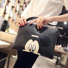Women Hello Kitty Messenger Bag Minnie Mickey Bag Leather Handbags Ladies Cartoon Clutch Bag Bolsa Feminina Bolsa Female Handbag(China (Mainland))