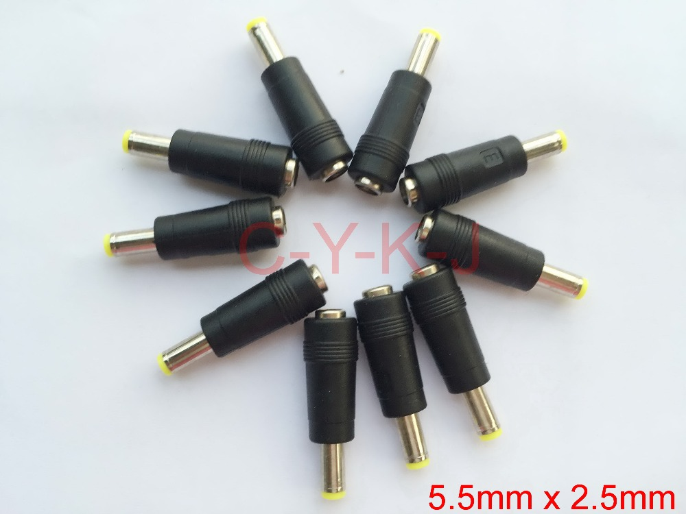 1000pcs/lot High quality 5.5mm x2.1mm female to 5.5mm x 2.5mm male AC DC Power Connector Adapter Free shipping(China (Mainland))