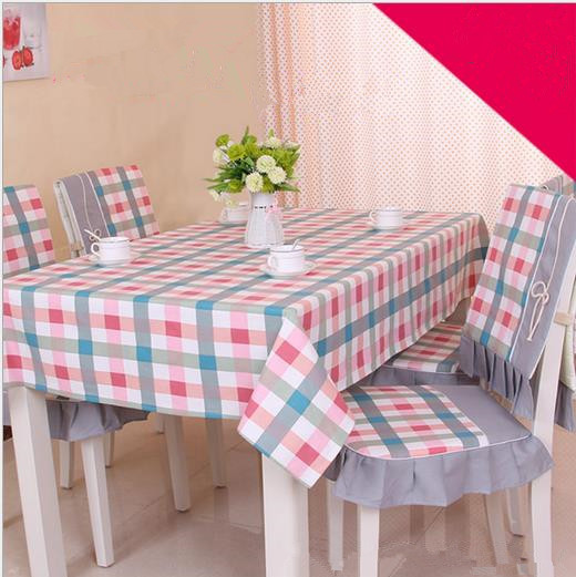New Cotton Table Cloth For Rectangle Table Home Decorations 3 Color Plaid Pattern Tablecloth Protective Manteles Para Mesa(China (Mainland))