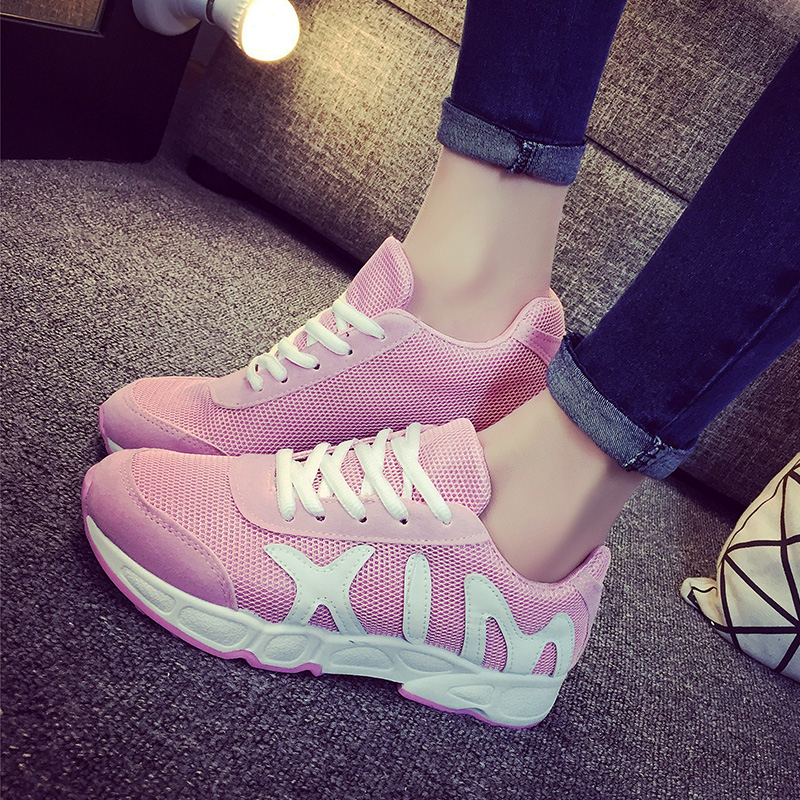 2015 spring summer running elevator women's student shoes net fabric breathable sports casual skateboarding flat - Online Store 331468 store