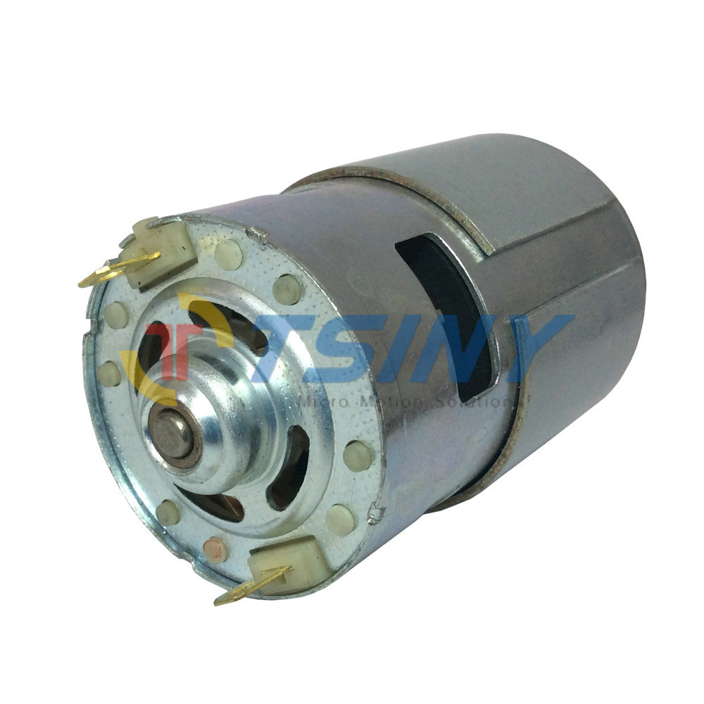 2017 small dc motor high torque permanent magnet 775 12v for Small electric motor bushings