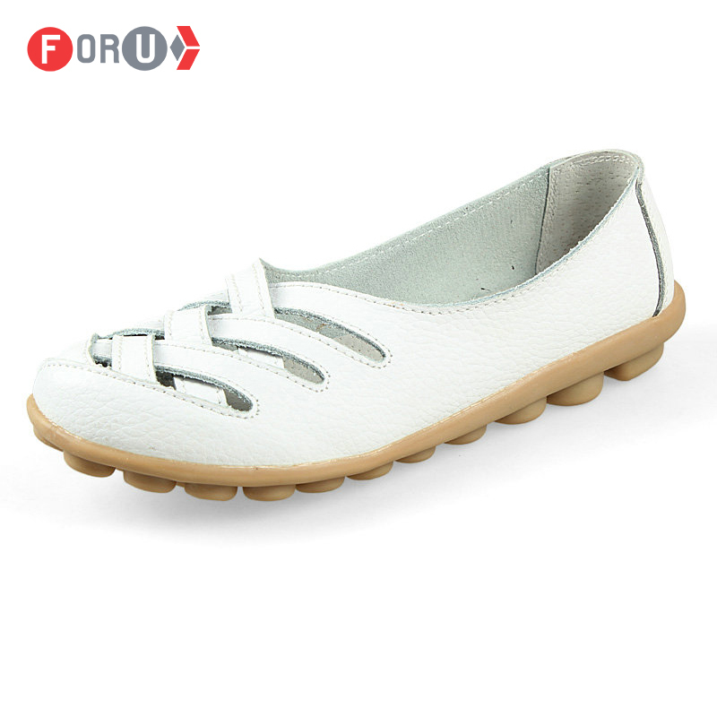 2016 women genuine leather shoes flats fashion slip woman sandals loafer Summer size 35~40 - Nice Shoe Trading Co.,LTD store