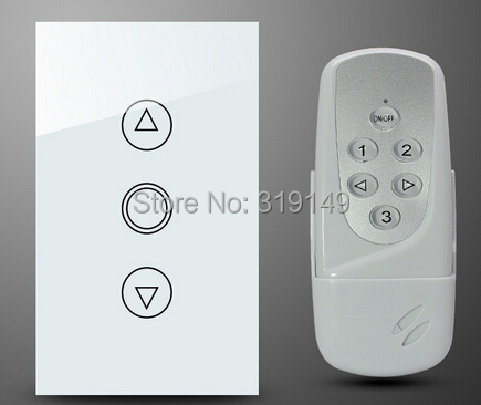 US AU RF Control Dimmer Touch Switch,Wall Light Switch Wireless Remote 433 Mhz Crystal Glass Panel Brazil - Mingway Shop store