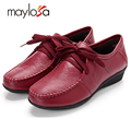Plus size 34 42 Women s Genuine Leather Single Flat Shoes Woman Loafers Spring And Autumn