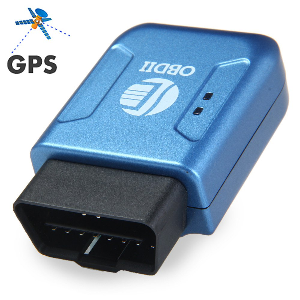 New TK206 Car GPS/GPRS Tracker OBDII Interface Geo-fence Function Autos fleet Tracking Device -Blue GPS LBS accurate location(China (Mainland))
