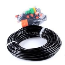Free Shipping 20m Hose 25x Drippers Micro Irrigation Drip System Plant Garden Watering Kit 4003-157(China (Mainland))