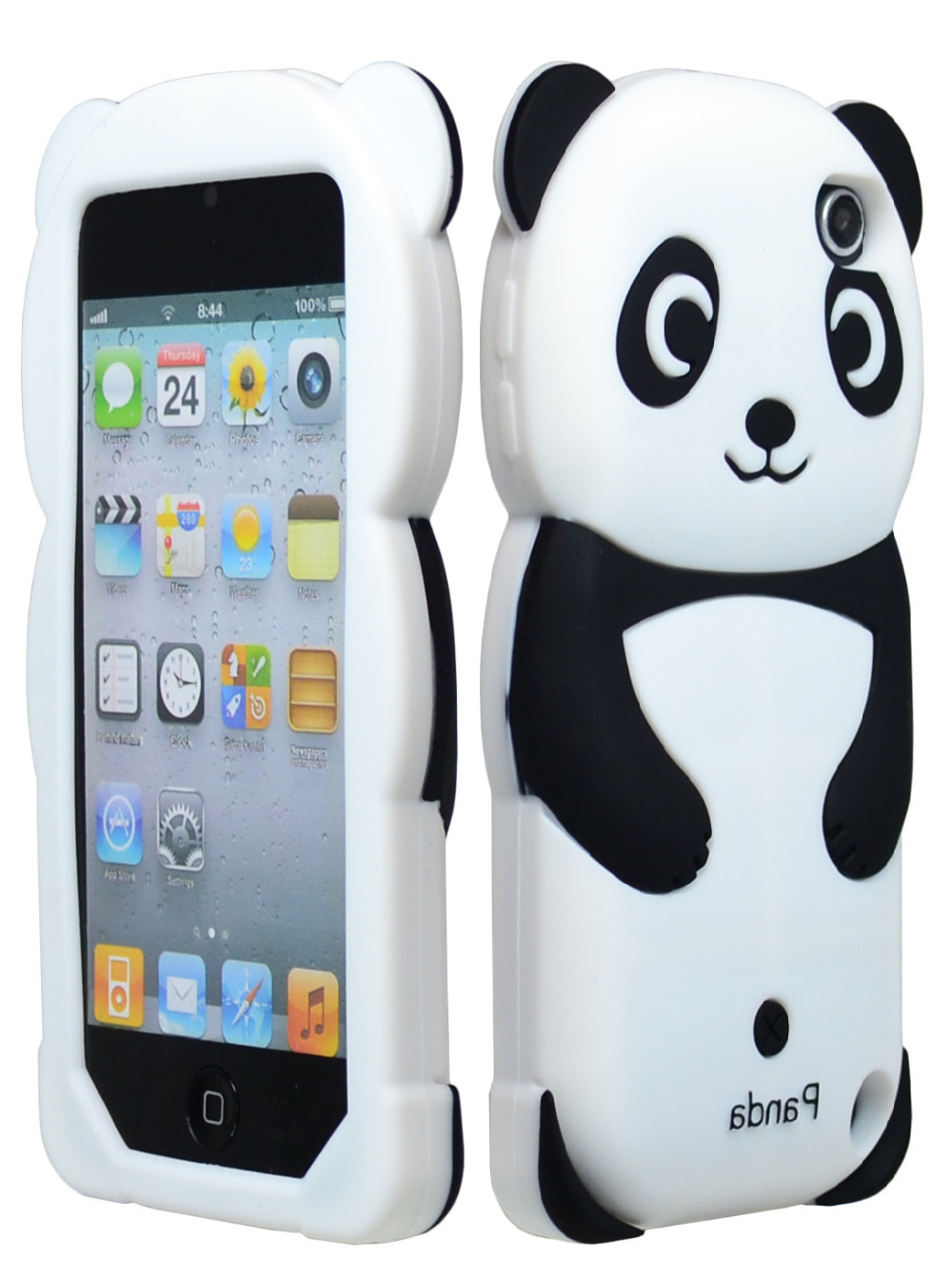 Cute Black Panda Silicone Animal 3D Case Cover for iPod Touch 5th Gen 5G(China (Mainland))