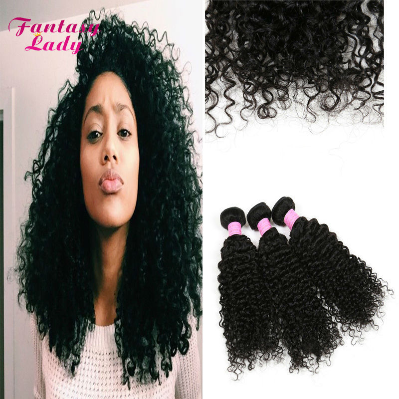 Yvonne Brazilian Kinky Curly Hair 3pcs Cheap 7a Real Brazilian Virgin Hair Curly Bundles Curly Brazilian Hair Extensions Thick