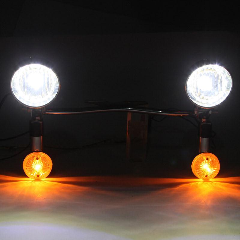 Black Steel Light Bar Motorcycle Headlight Turn Signal Lamp 12V Led Driving Light For Honda Suzuki Kawasaki Harley Davidson(China (Mainland))