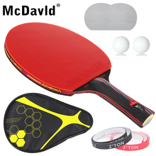 Table tennis racket Pimples-in rubber Hybrid Wood 9.8 Ping Pong Racket bat for attack and loop drive at near tabel low price(China (Mainland))