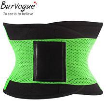Burvogue hot shapers for women slimming body shaper waist Belt girdles sport Firm Control Waist trainer plus size Shapwear(China (Mainland))