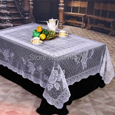 Cheap Lace Table Cloth Tablecloth Vintage For Round Table Wedding Tablecloth White Overlay Tablecloths 70 Inch 54x72 Inch 60x90(China (Mainland))