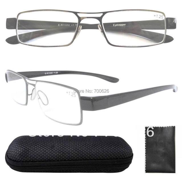 R11050 тонкой металлической оправе Rim пластиковые оружия двойной мост очки для чтения ...