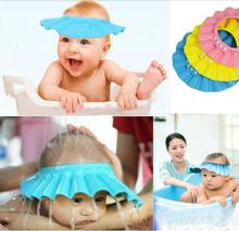 1PC New Design Shower Cap Adjustable Protect Shampoo for baby health Bathing Waterproof Hat ,kid Wash Hair Shield Hat IC870060(China (Mainland))