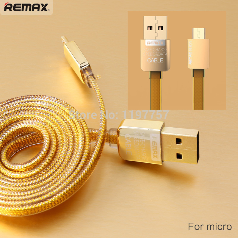 Gold Color Micro USB Cable Android Mobile Charing Wire Double Sides Input 100cm Flat Data Cord for Samsung Xiaomi Redmi Hongmi(China (Mainland))