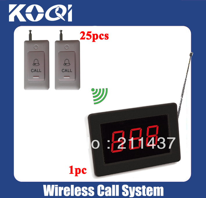 Dispensary Bell system wireless bell system of 1 Call pager for nurse or doctor and 25 Call bell for patient Free shipping free(China (Mainland))