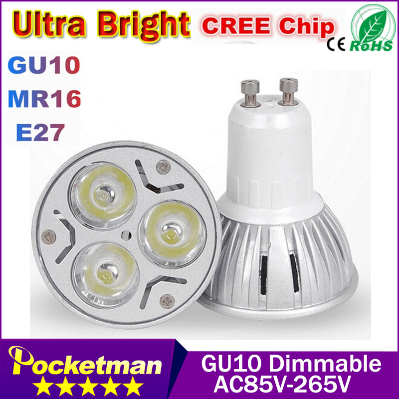 Wholesale High power CREE Led Lamp 9W 12W 15W Dimmable GU10 Led spot Light Spotlight led bulb Cold warm white Free shipping<br><br>Aliexpress