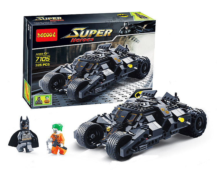 Decool Building Blocks Super Heroes Batman Batmobile Joker Model Kits Hot Toy Boy - C&T Toys store