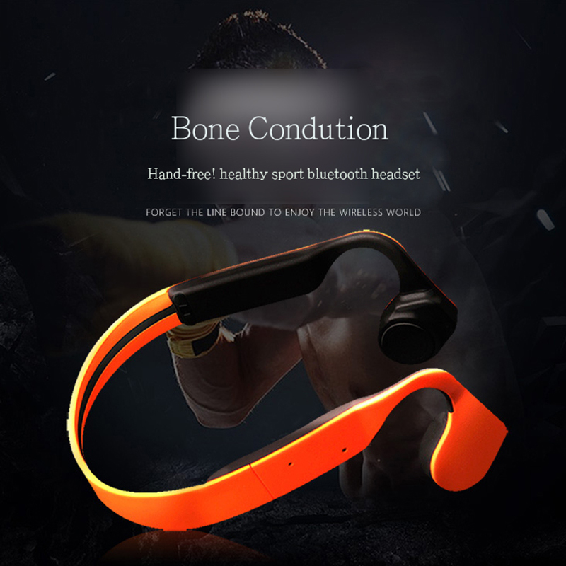 Blog.Fish Sport Bluetooth Wireless Earphones Bone Conduction Headphones Waterproof Stereo Earphone Handsfree Headset With Mic(China (Mainland))