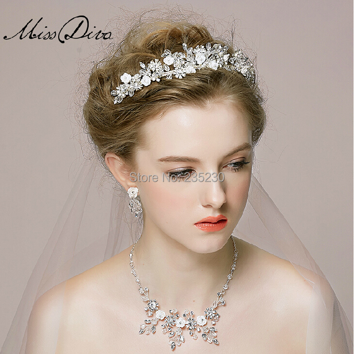 18 k most beautiful bride wedding crown Hair accessories boutique(China (Mainland))