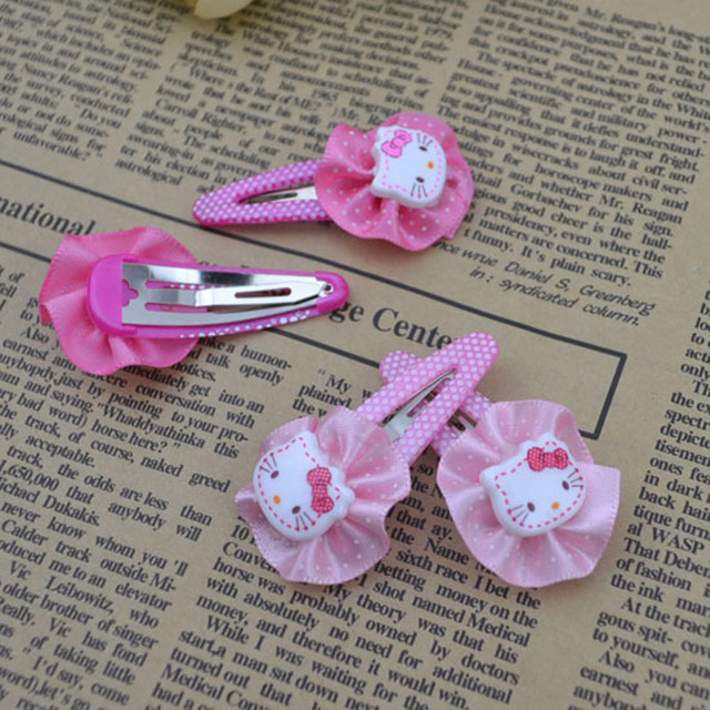 New Cute Baby kid children girl Hair bands circle  kitty design hairpin beautiful gift  H45