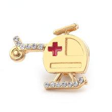 Grosir 20 Pcs Pesona Stetoskop Pin Lencana Bros Kerah Pin dengan Merah Hati Hadiah Kreatif untuk Perawat Dokter Mahasiswa Kedokteran(China)