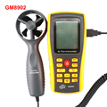GM8902 Digital Anemometer Wind Speed Tester 0 3 45m s Air Flow Tester Temperature Monitor with