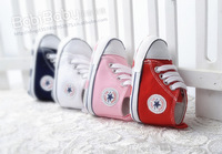 2015 New Fashion Five star baby shoes Solid soft non slip bottom First Walkers for 0-18M baby boys and girls
