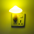 EU Plug Mushroom Wall Socket Light controlled Sensor LED Night Light Lamp Bedroom Baby