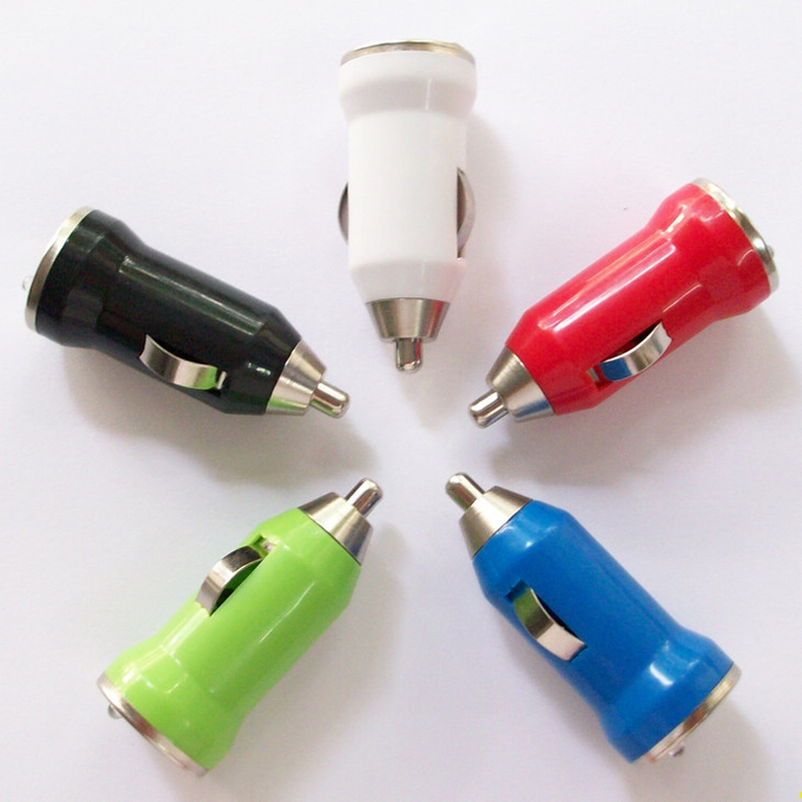 High quality USB car charger head adapter cigarette lighter adapter suitable for iphone samsung xiaomi lenovo