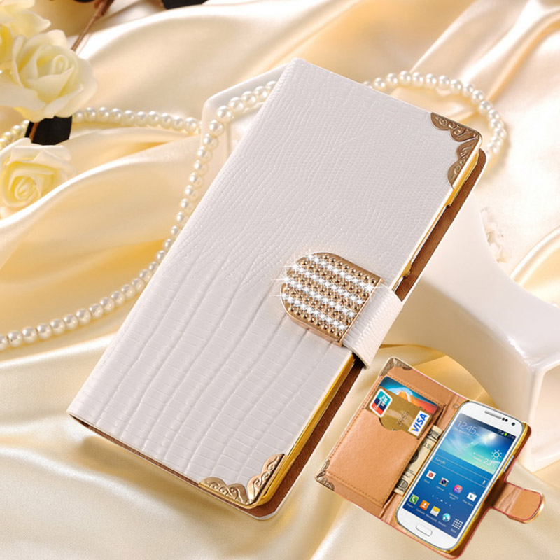 Luxury Bling Wallet PU Leather Case Samsung Galaxy S4 Mini i9190 Stylish Rhinestone Buckle Plastic Cover Coque Tomkas - Shop208695 Store store