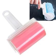 Reusable Washable Lint Roller Sticky Silicone Dust Pet hair Remover Cleaning Brush with Cover for Pet Cloth Furniture(China (Mainland))