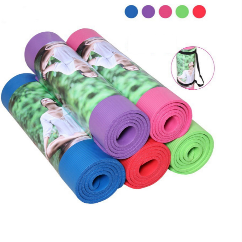 10mm Beginner Yoga Mats Pad Non-Slip Waterproof Lose Weight Exercise Fitness Indoor Multicolor Free Shipping SY090(China (Mainland))