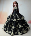 NK One Set  2016 Vogue Design Doll' Handmade Fishtail Black Costume For Barbie Doll Greatest Reward For Lady' 1/6 Doll zero01C