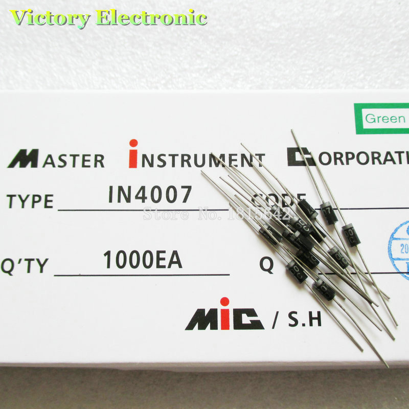 100PCS/Lot 1N4007 1n4007 4007 IN4007 1A 1000V DO-41 Rectifier Diode Wholesale Electronic(China (Mainland))