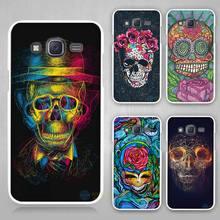 Buy skull art Hard White Case Cover Samsung Galaxy J1 J2 J3 J5 J7 C5 C7 C9 E5 E7 2016 for $1.49 in AliExpress store