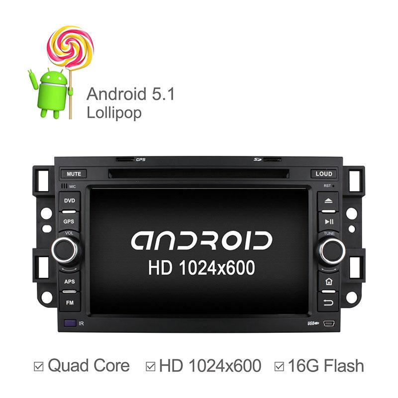 1024*600 Quad Core Cortex A9 CPU Android 5.1.1 Car DVD GPS For Chevrolet Aveo Epica Lova Captiva Spark Optra Support Mirrorlink(China (Mainland))