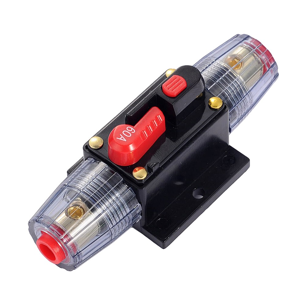 60a Car Audio Refit Stereo Fuse Holder Amplifier Circuit Breaker Fuse Holder For Auto Truck