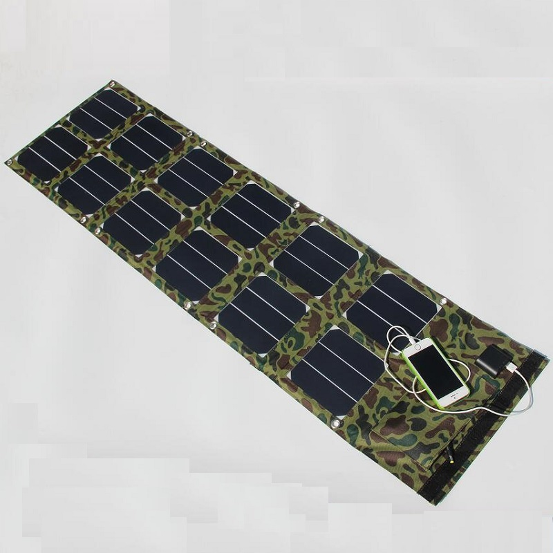 High Quality Foldable 40W Solar Panel Charger /Mobile Phone Charger Power Bank USB 5V+DC18V Dual Output For 12V Battery Charger