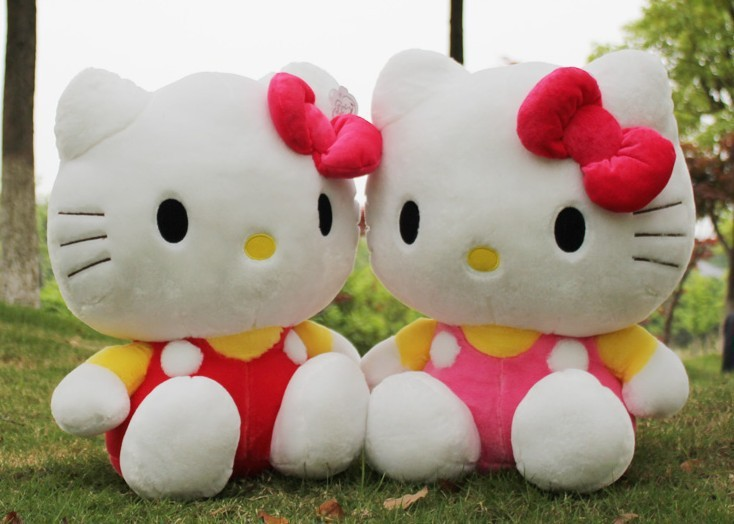 Free shipping 1pc 25cm Japan Anime sitting hello kitty plush toys, hot sell cute kitty stuffed doll for kids girls gift(China (Mainland))