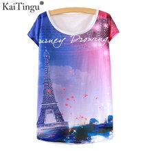 Buy KaiTingu 2017 Brand New Version Fashion Summer Harajuku Short Sleeve Women T Shirt Tops Eiffel Tower Print T-shirt White Clothes for $5.40 in AliExpress store