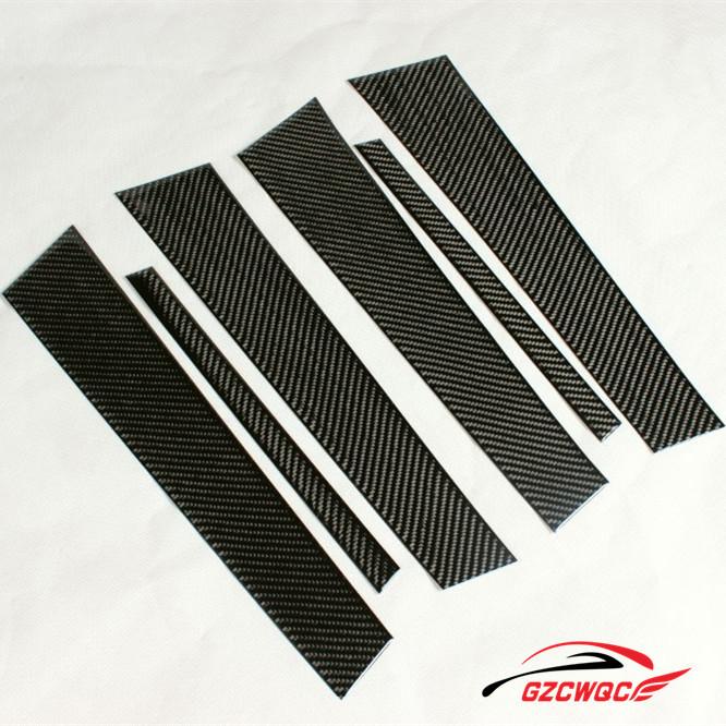 6PCS/SET 2005-2011 Carbon Fiber E90 Car BC Pillar for BMW E90 3 Series, Auto Door Pillar Decoration for E90(China (Mainland))