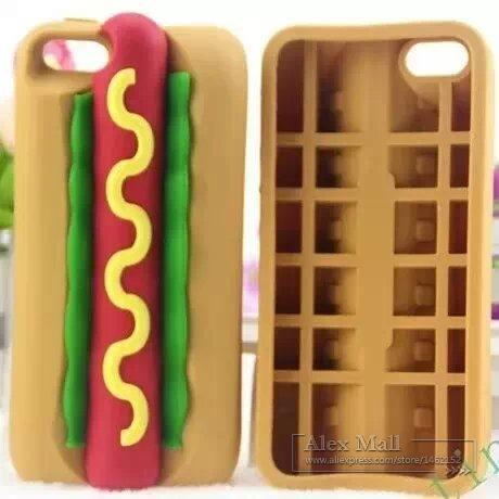 Hotdog Case iPhone 5 5S 5G 4 4S 4G Lovely Cartoon 3D Silicon Soft Cute Phone KK038 - Harley Technology store
