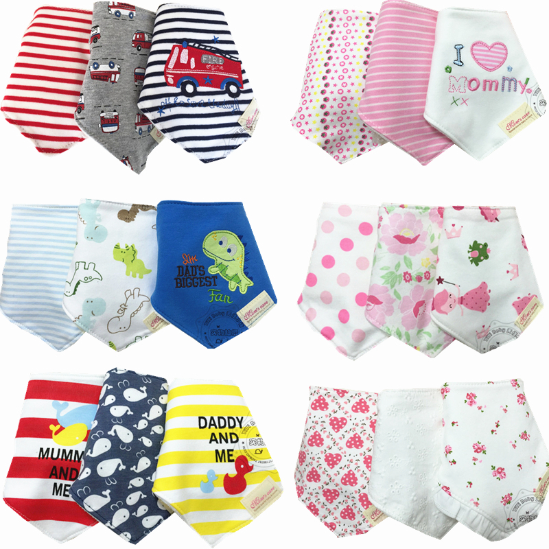 BABY BIBS 100 Cotton Baberos Bandana Carters Skip Zoo Bandanas 3Pcs Lot Baberos Boy Girls Cravat